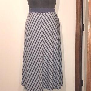 Lane Bryant Blue Chevron Maxi Skirt Size 18/20